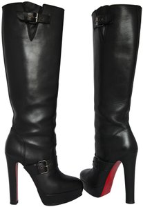 Christian Louboutin Thigh High Over The Knee Ankle Black Boots