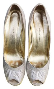 Twelfth St. by Cynthia Vincent Peeptoe silver Pumps