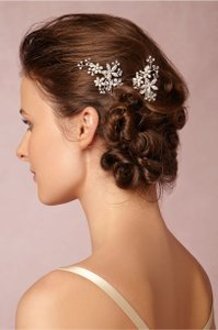 BHLDN Silver Roseum Pins (2) Hair Accessory