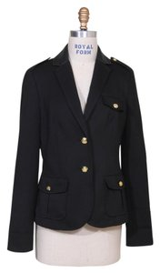 Jones New York Cutaway Durable Faux Leather Soft Structured Black Jacket