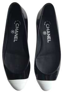 Chanel Cc Coco Mademoiselle Classic Vintage Ballet Ballerina Patent Leather Logo Designer Ballerina Patent Leather Premium Black Flats