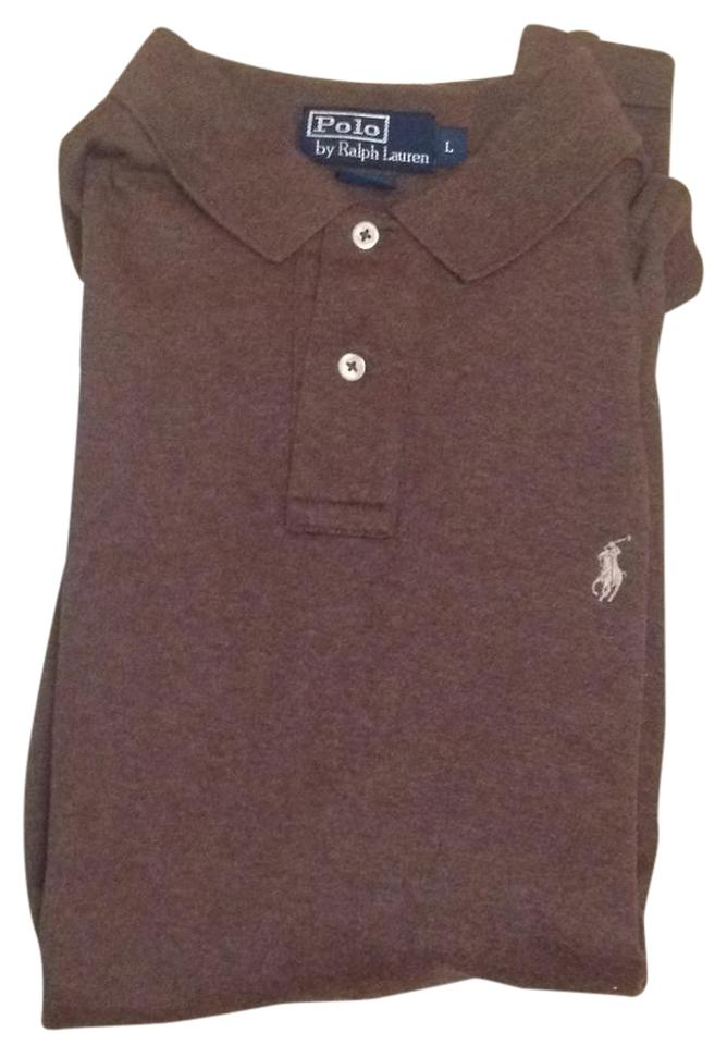 961afd55 Polo Ralph Lauren Brown Men's Tee Button-down Top Size 12 (L) - Tradesy