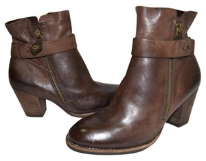 Paul Green Wedge BROWN LEATHER Boots