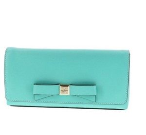 Kate Spade Faux Leather Party Giverny Blue Clutch