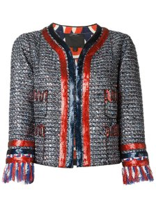 Marc Jacobs Tweed Sequin Navy, Red, White Jacket