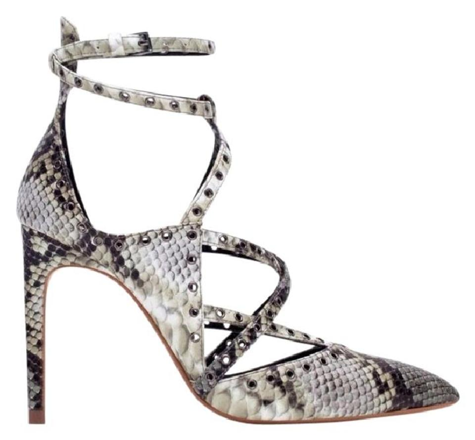 3cc1ec977e Zara Multicolor New Box Snakeskin Strappy Pointed Heels Sandals Pumps. Size:  US 7.5 ...
