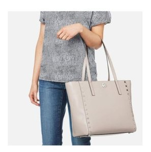 Michael Kors Rivington Studded Tote in Cement silver
