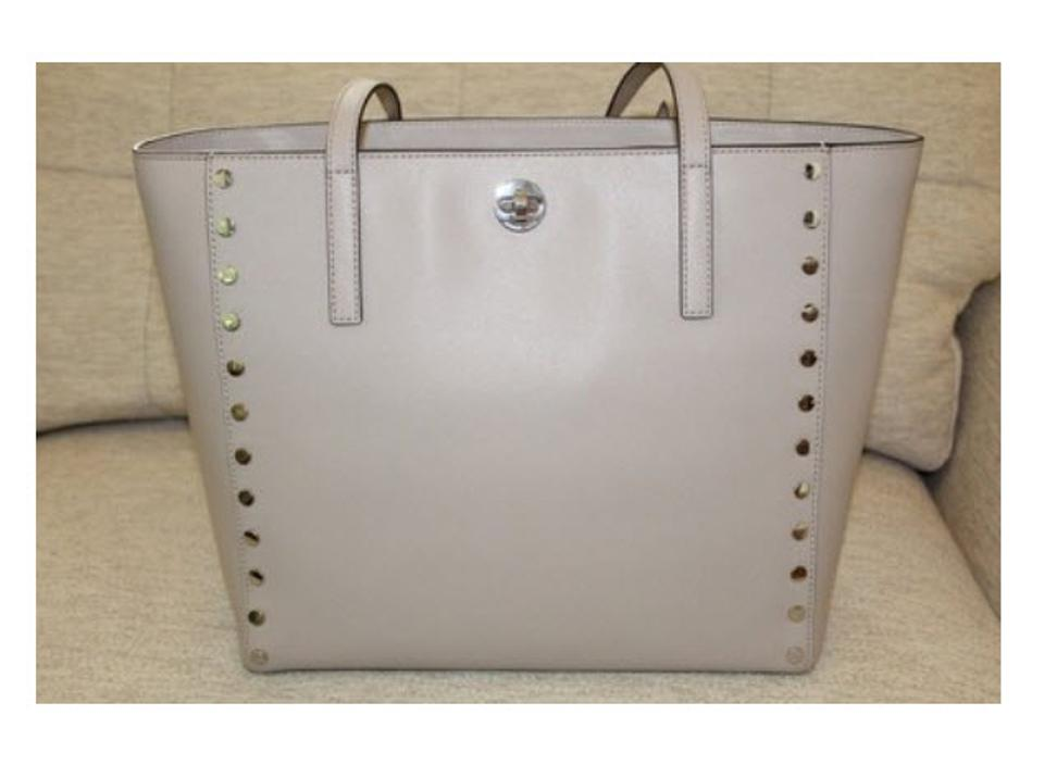 00b852b2372a Michael Kors Rivington Studded Tote in Cement silver Image 11.  123456789101112