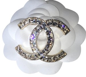 Chanel Chanel Galaxee CC Gold Crystal Brooch