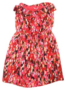 Collective Concepts short dress Pink Multi Country Music Festival Summer Flowy on Tradesy