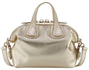 Givenchy Lambskin Nightingale Satchel in Gold