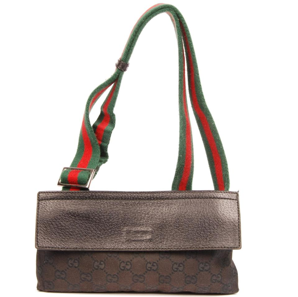 38aa361bbe73 Gucci Gg Monogram Fanny Pack Waist Belt Black Canvas Weekend/Travel Bag