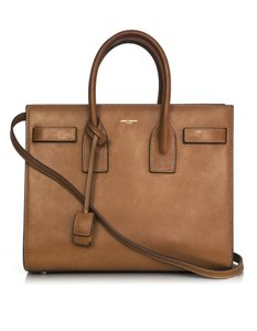 Saint Laurent Small Tote Sac De Jour Natural Satchel in tan