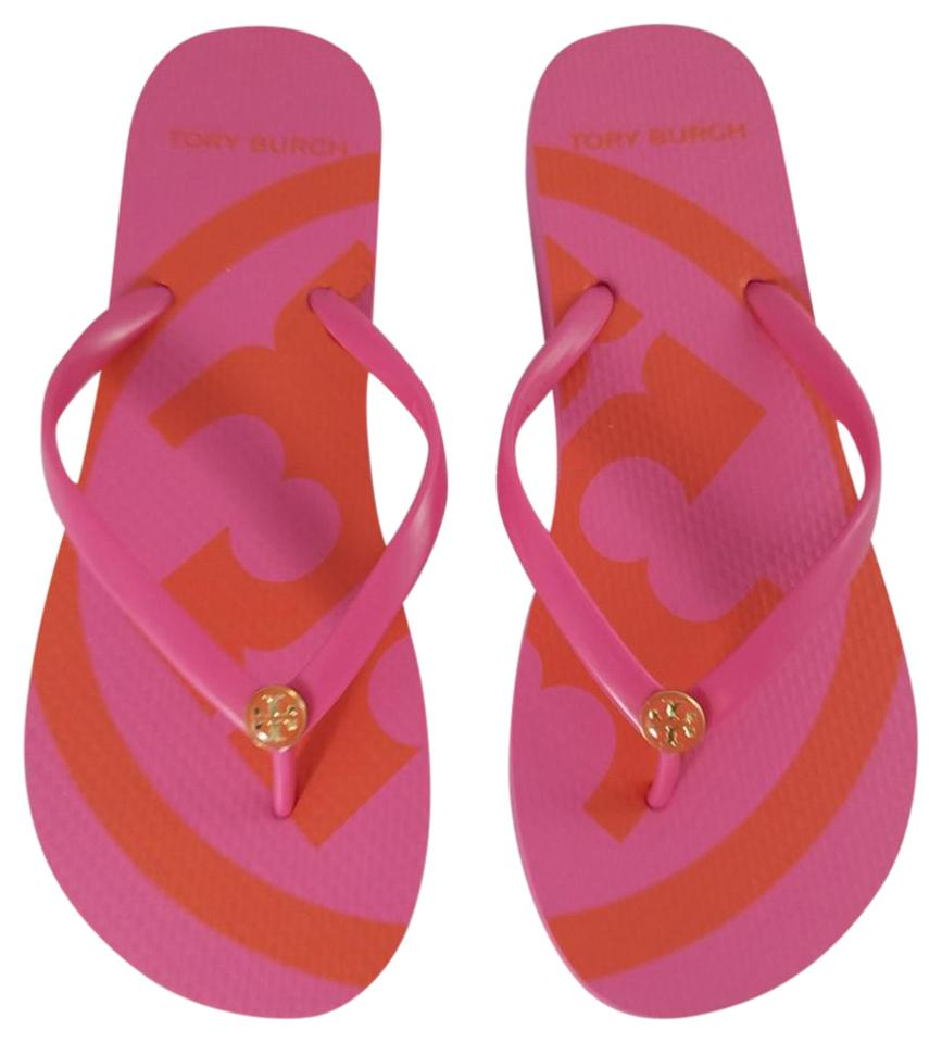 b677ef291bf45 Tory Burch New   Emory Fiesta Flip Flops Sandals Size US 9 Regular ...