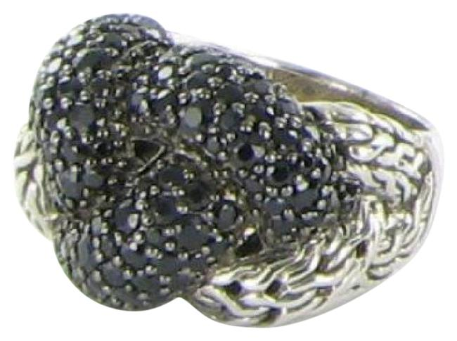 Item - Black Sapphire Sterling Silver Classic Chain Lava Large Braided 7 Ring