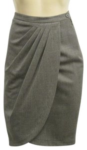 Michael Kors Collection Italy Virgin Wool New With Tags Skirt Brown