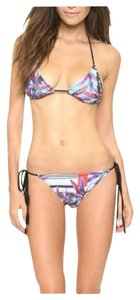 Clover Canyon Clover Canyon Olive Tree Jewel Tone Black 2-PC String Bikini Swim S&M