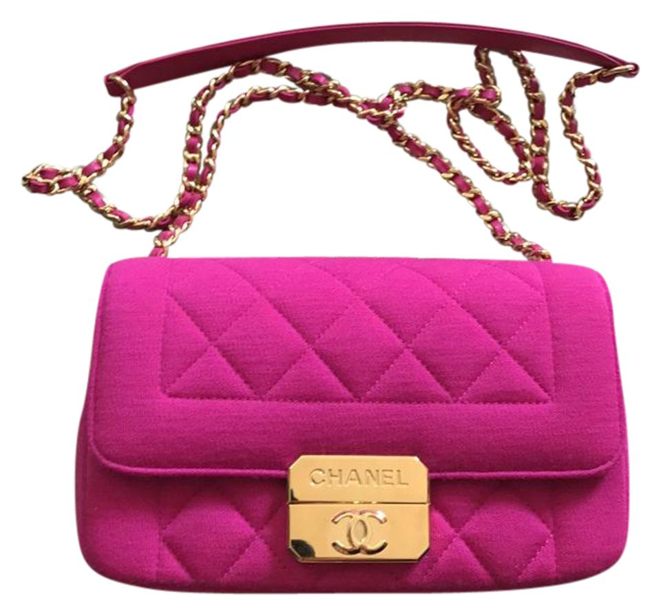42fb25063d38 Chanel Chic with Me Mini Hot Pink Jersey Fabric Cross Body Bag - Tradesy