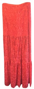 Nightcap Maxi Skirt red