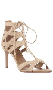 Aquazzura Suede Up Stilleto Nude Sandals