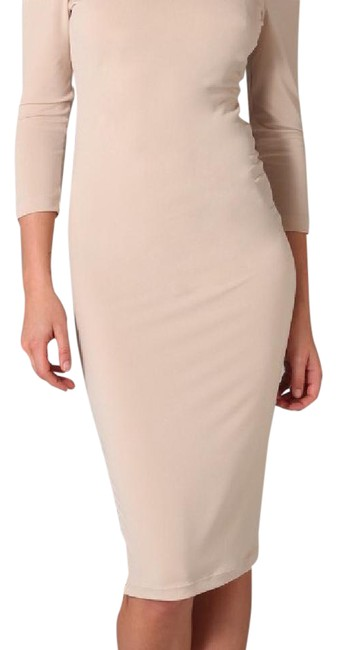 Item - Blush Nude Sonia Zip Mid-length Night Out Dress Size 0 (XS)