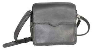 Rebecca Minkoff Leather Mini Silver Hardware Cross Body Bag