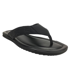Gucci 363765 Thong Rubberized Black Sandals
