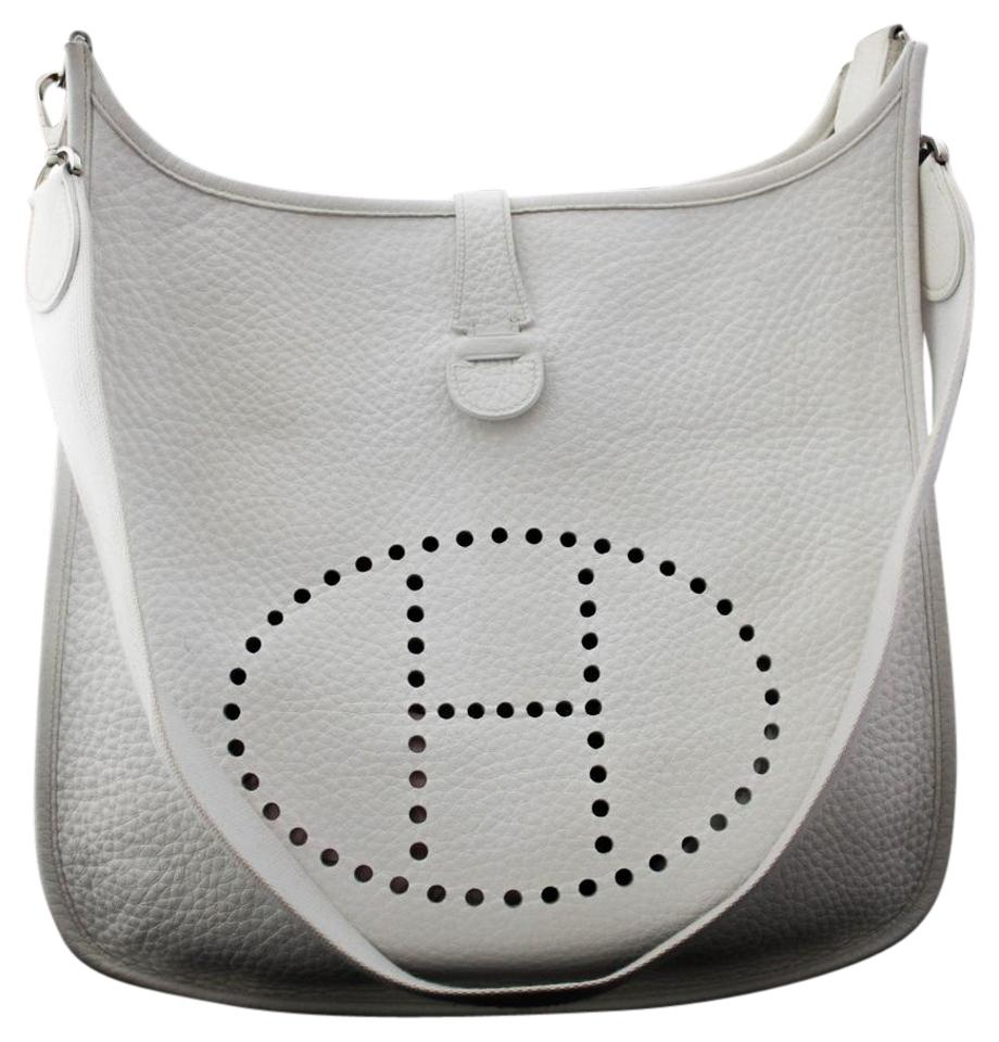 191556bfbd0 Hermès Gm Clemence Evelyne White Cross Body Bag on Sale, 47% Off ...