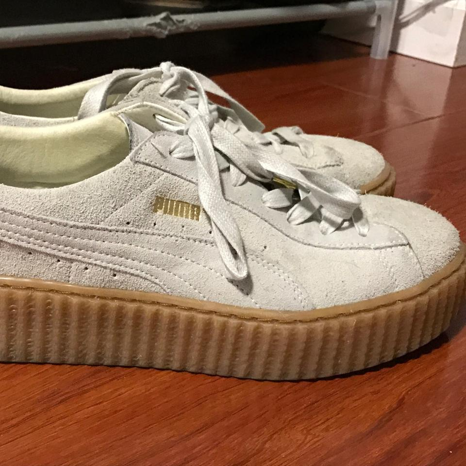 3b943afc034d Puma Star White Light Grey Rihanna Fenty Creepers Sneakers Size US ...