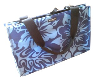 Kate Spade Shopper Tote in Navy/French Blue Hawaiian Floral