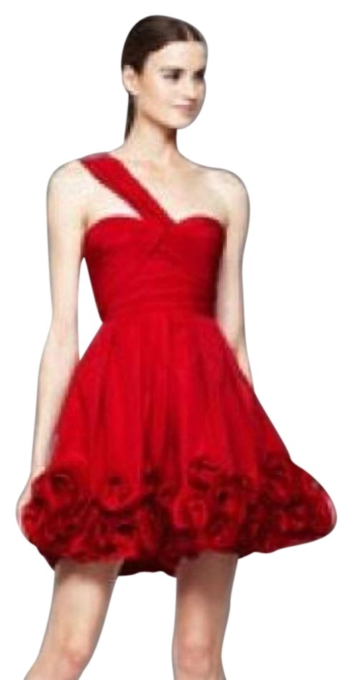 19259c9fdedc BCBGMAXAZRIA Red One-shoulder Semi-formal Short Cocktail Dress Size ...