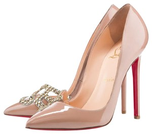 Christian Louboutin Ankle Boots Spikes Studs Pigalle Beige Pumps