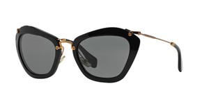 Miu Miu Black MIU MIU Cat Eye Sunglasses - 10NS 1AB1A1 - FREE 3 Day Shipping""