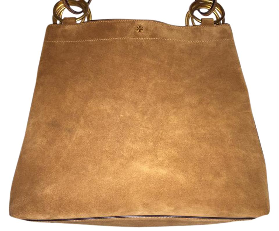 1e87ee56bf18 Tory Burch Farrah Brown Suede Leather Tote - Tradesy