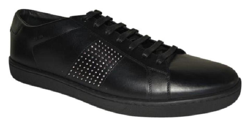 73df6ff18a14 Saint Laurent Leather Sneakers Studded Lace-up Black Athletic Image 0 ...