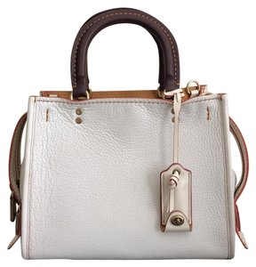 Coach Satchel in Brass/Chalk