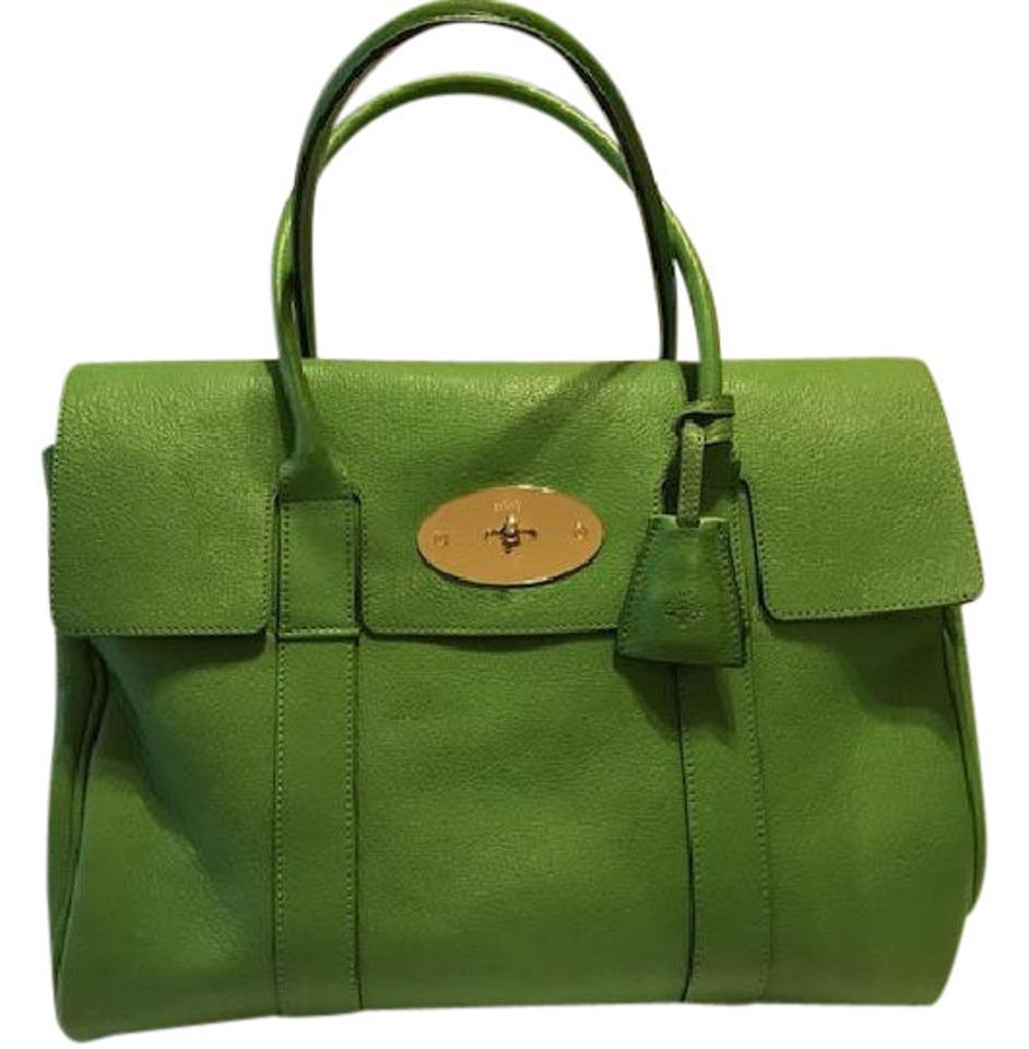 88dcea95fe Mulberry Bayswater Apple Green Goat Tote - Tradesy