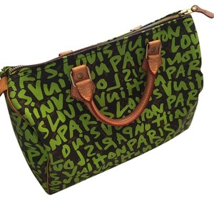Louis Vuitton Leather Limited Edition Satchel in Green