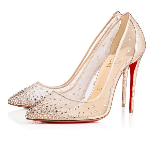 christian louboutin follies strass silver pumps pumps on. Black Bedroom Furniture Sets. Home Design Ideas