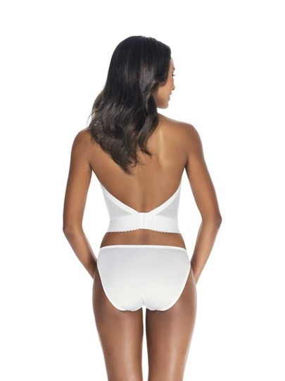 Dominique Dominique Backless Satin Longline Bra 6377 White 34B