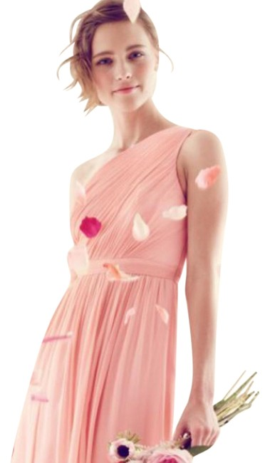 Item - Bright Coral Kylie Silk Short Cocktail Dress Size 4 (S)