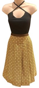 Anne Klein Skirt yellow and brown