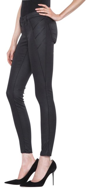 Item - Black Coated Shoreditch Trench Legging Skinny Jeans Size 28 (4, S)