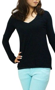 James Perse Stretchy Basic 3 Tee Top BLACK