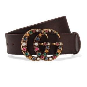 Gucci Crystal GG leather belt size 65
