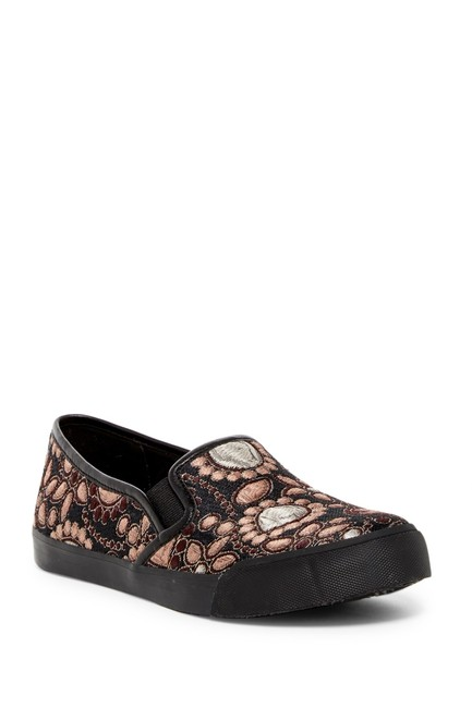 Item - Pink/Gold Piper Fabric Jacquard Slip-on Sneakers Size EU 35 (Approx. US 5) Regular (M, B)