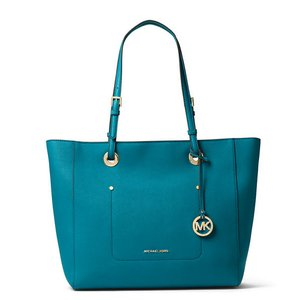 Michael Kors Walsh Large Tote in peacoke gold