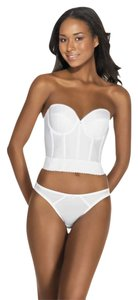 Dominique Dominique Backless Satin Longline Bra 6377 White 34C