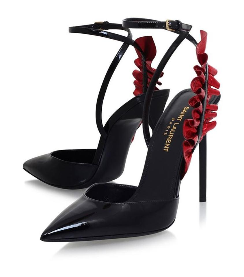 Saint Black Laurent Black Saint and Red Edie Pumps a08de4