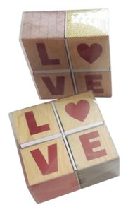 Target Multicolor Love Wooden Blocks For Centerpiece